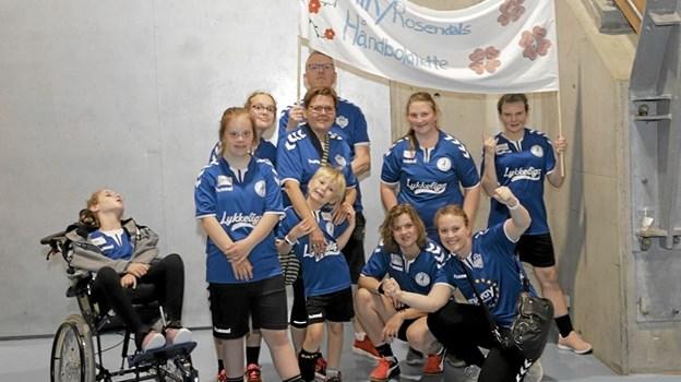 Nogle af HIK/Rosendals dygtige håndboldhelte. Foto: Privat