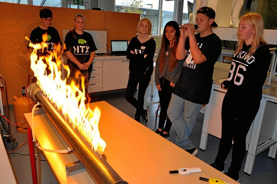 Ild og lydbølger var blot én af udfordringerne ved de i alt 12 forskellige eksperimentboder.