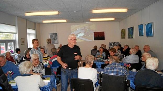 Med 130-140 deltagere var der et stort fremmøde til bogudgivelsen i Medborgerhuset i Haverslev søndag eftermiddag.