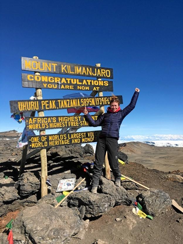 Randi Jørgensen har tidligere stiftet bekendskab med bjergbestigning - senest på Mount Kilimanjaro. Privatfoto
