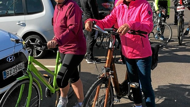 Hanne og Inge: Fra venstre Inge Rasmussen og Hanne Andreasen på vej ud på Hyggeruten Foto: Åse Bakland