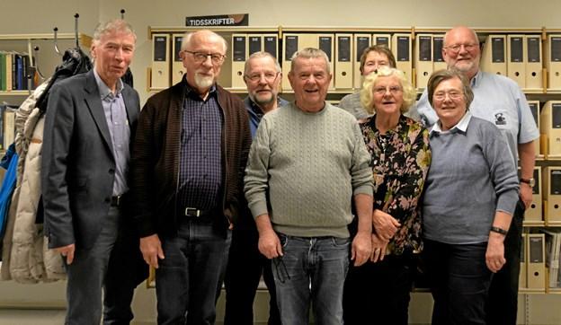 Bestyrelsen for Løgstør Kulturråd på årsmødet på Løgstør Bibliotek. Foto: Mogens Lynge