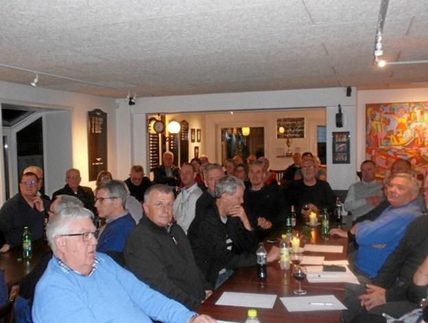 Der var mødt ca. 45 af klubbens medlemmer op for at høre, hvordan det var gået i årets løb. Privatfoto