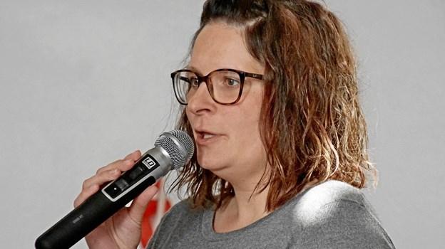 Den nyansatte sognepræst Lea Hoff Ringård Lauridsen fortalte, at hun glædede sig meget til at skulle arbejde for sognene.  Foto: Helge Jensen