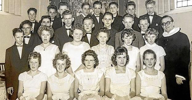 Fra konfirmationen i Godthåb Kirke 15. marts 1959. Foto: Karl Erik Hansen