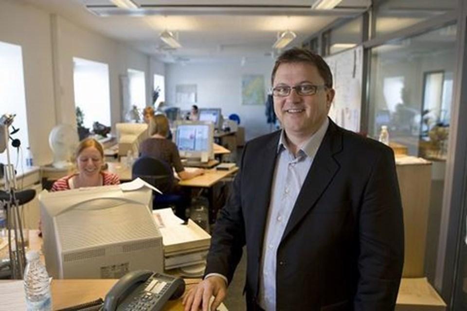 For fem år siden afviklede Bent Jørgensen sit kontor i DTF travel for at give plads til de ansatte. Foto: Kurt Bering