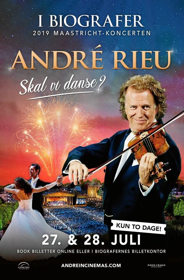 André Rieu - kan 27. og 28. juli atter opleves i Løgstør Bio, og billetterne er allerede nu sat til salg. Privatfoto
