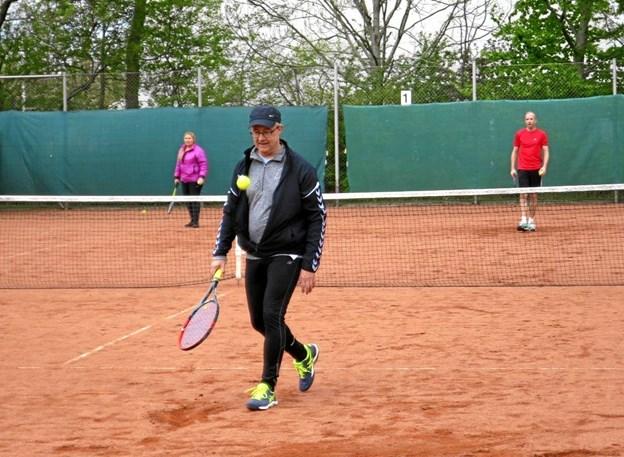 Dagen igennem var der en lind strøm af gæster, der ville opleve tennisspillets udfordringer. Foto: hhr-freelance.dk