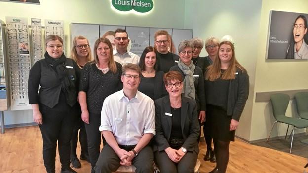 Louis Nielsen-teamet er klar til at fejre 20 års butiks-jubilæum i Hjørring.