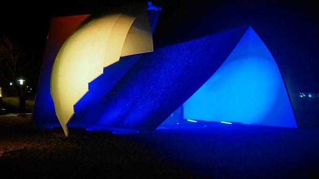 Der leges med lys i Frederikshavn torsdag aften 24. januar. Foto: EUC Nord