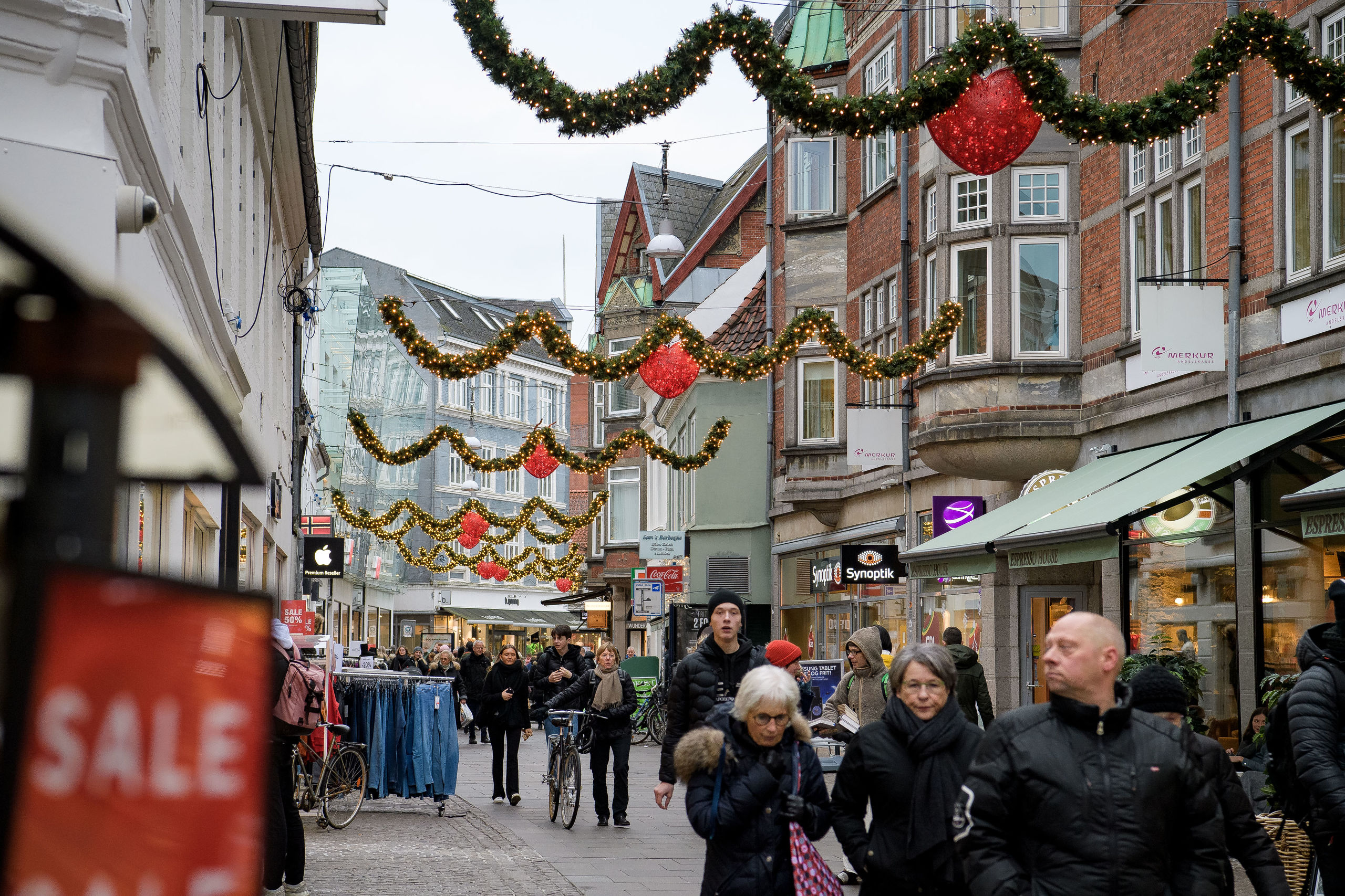 Der er travlhed overalt, når de sidste julegaver skal findes. Foto: Anne Helene Kahr Thomsen