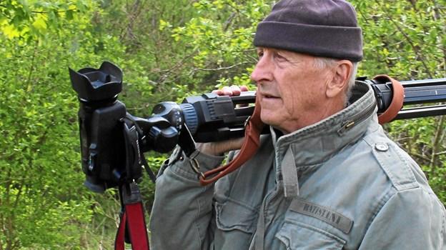Hans Flou er nu klar med en ny film i serien om Slotte og herregårde i Østhimmerland - Natur og Kultur. Foto: Hans Flou