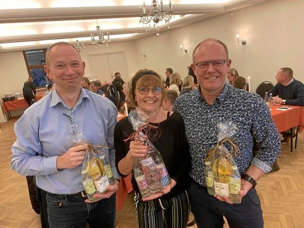 Christian Jensen, Anne-Mette Mortensen og Jan Kjølby gik ud af bestyrelsen efter en årrække, og de fik både gave og klapsalver med på vejen.Privatfoto