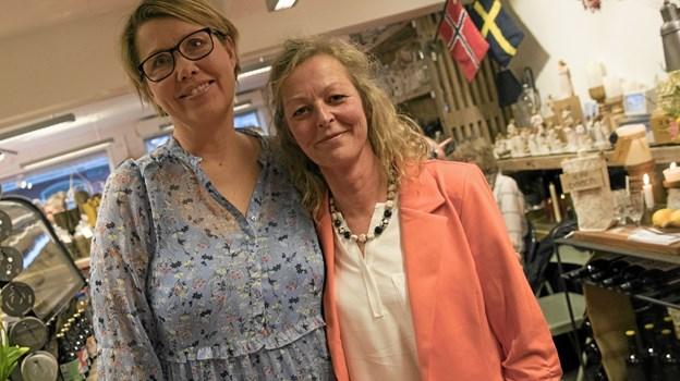 Astrid Houmann og Inger Pia Rasmussen stod bag arrangementet. Foto: Allan Mortensen Allan Mortensen