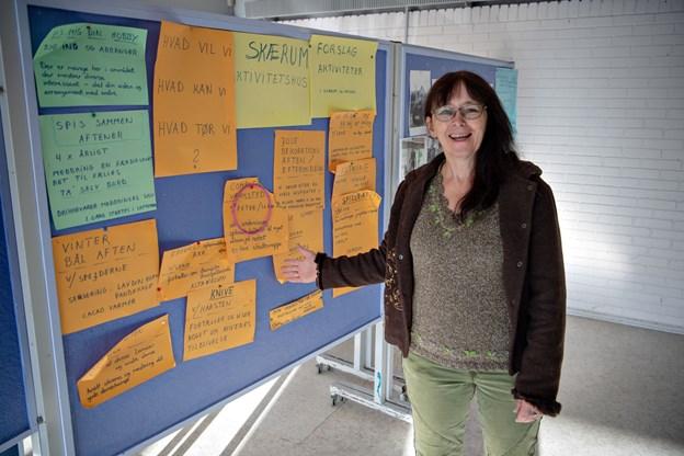 Arbejdsgruppen har gjort sig tanker, fortæller Lone Pedersen. Foto: Kurt Bering