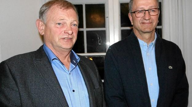 Erik Frederiksen blev genvalgt, mens Niels Erik Sørensen er nyvalgt til bestyrelsen. Foto: Jørgen Ingvardsen Jørgen Ingvardsen