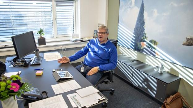Arne Boelt på borgmesterkontoret på Hjørring Rådhus. Arkivfoto: Kurt Bering