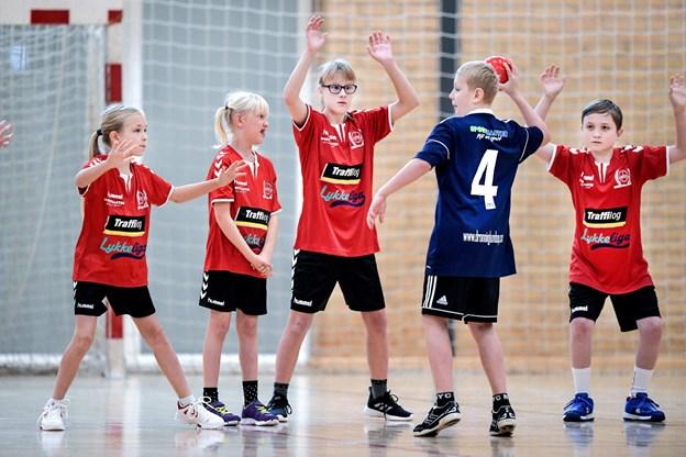 Lørdagens møde med holdet fra Dronninglund bestod af flere små kampe på 10 minutter stykket. Foto: Torben Hansen Torben Hansen