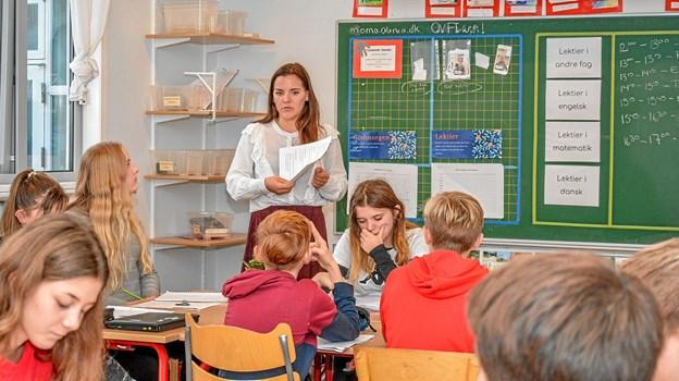 Ideen med åben skole er, at give nye om måske kommende elever mulighed for at se skolen an på en almindelig skoledag. Foto: Mogens Lynge