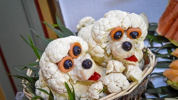Blomskåls-puddelhunde. Foto: Ole Iversen