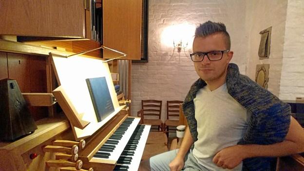 Organist Lasse Christensen. Privatfoto