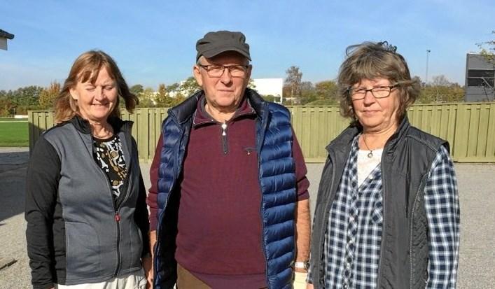 Birte, Knud og Sys blev interne tripplemestre 2018. Foto: privat.