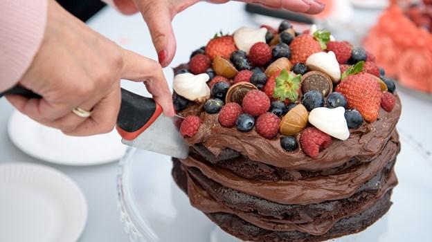 Chokoladekagen blev nummer to. Foto: Bo Lehm Foto: Bo Lehm