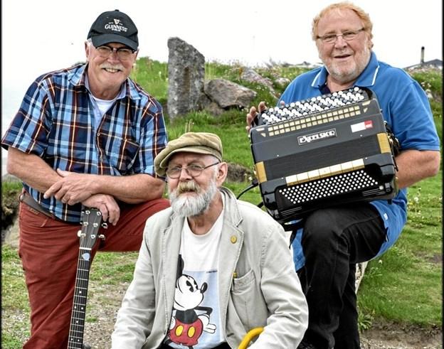 De tre garvede musikere har flere gange har optrådt i Skagen.Privatfoto