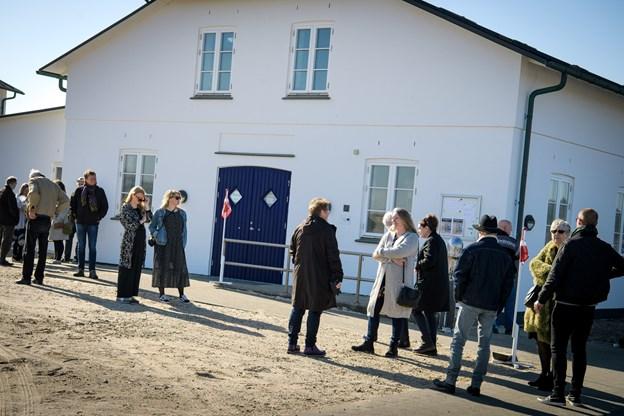 Kunst ved kysten havde fået lov at låne lokalerne ved Han Herred Havbåd. Foto: Bo Lehm