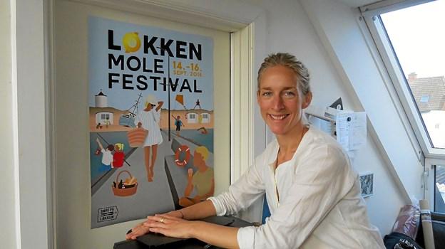 Første arbejde som selvstændig var plakaten til Molefestival. Foto: Kirsten Olsen