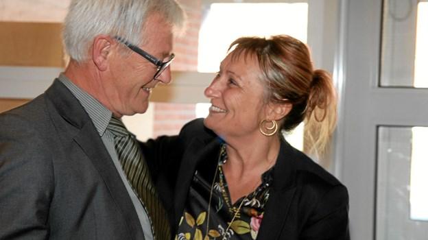 Helle Bak Andreasen var glad for at være med til at fejre Per Halsboe Larsen. Foto: Flemming Dahl Jensen Flemming Dahl Jensen