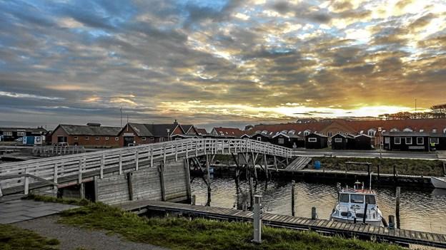 Så smuk var morgenen på Spil Dansk Dagen i Løgstør. Foto: Mogens Lynge