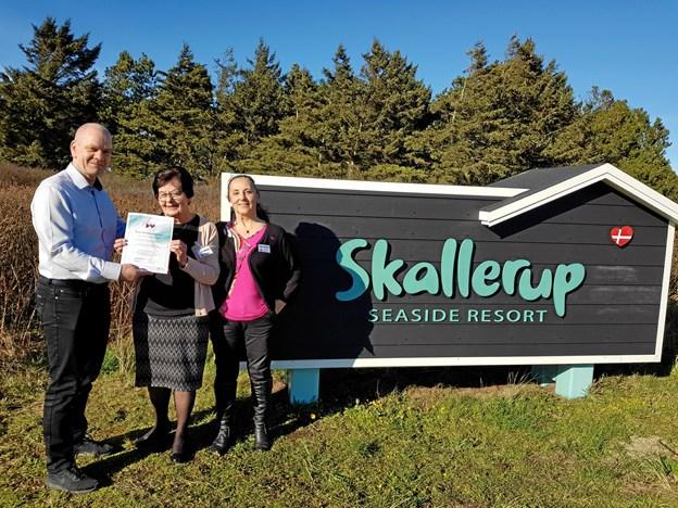 Onsdag den 20. marts modtog Skallerup Seaside Resort sit bevis som demensvenlig virksomhed. Foto: Skallerup Seaside Resort
