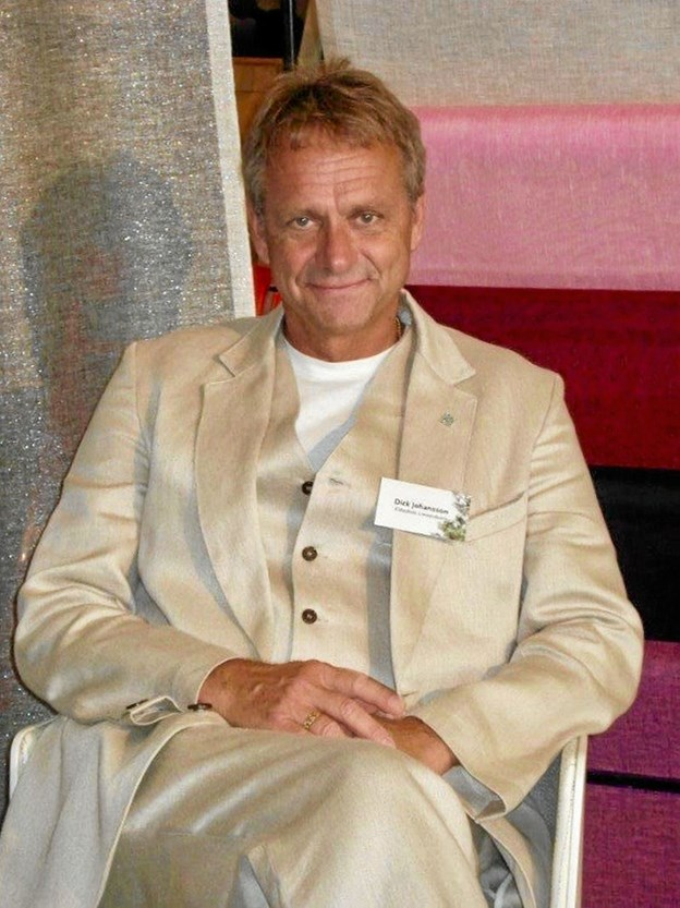 """Dick Johansson modtog den svenske konges fortjenstmedalje i sommers, for sin indsats som """"kulturformidler"""". Foto: Privatfoto Privatfoto"""