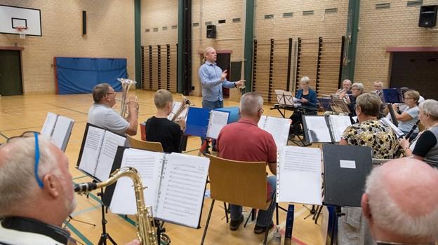 Der øves hver tirsdag aften på Søndergades Skole. Foto: Henrik Louis