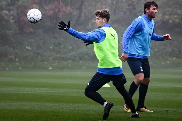 Amerikanske Christian Cappis (tv.) kan få debut for Hobro IK tirsdag aften. Foto: Anders Markmann Thomsen