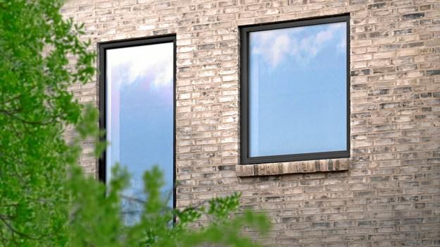 Det nye træ/alu-vindue er med 3-lags glas, energimærke A og har en Eref-værdi på +23,9 kWh/m² pr. år. Det kan fås i alle vinduesproducentens ti standardfarver og har desuden ti års garanti. PR-foto.