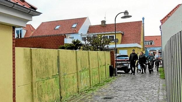 Muren ved Jens Bangs Sti. Foto: Arkivfoto Arkivfoto