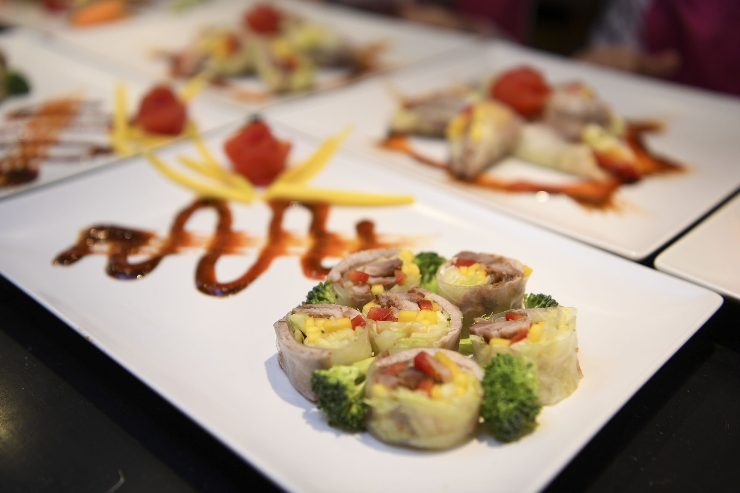 Hos Huong Viet vil der blive serveret traditionelle vietnamesiske retter som for eksempel sommerruller, der ses her på billedet. Foto: Mette Nielsen