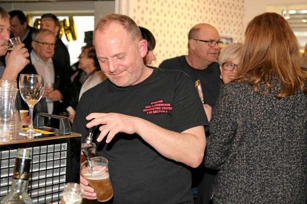 Ole Vestergaard havde en meget travl eftermiddag. Foto: Flemming Dahl Jensen Flemming Dahl Jensen