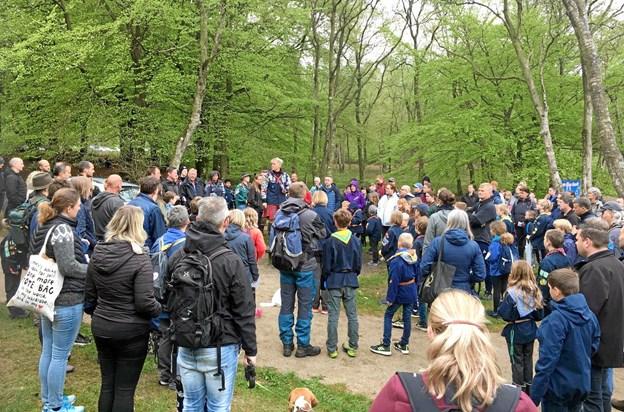 """Omkring 250 spejdere deltog i årets udgave af """"Store Økssø Rundt"""". Privatfoto"""