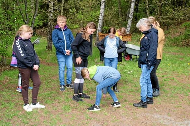 Kan eleverne komme frem til afstanden på en meter, uden hjælpemidler? Flemming Dahl Jensen