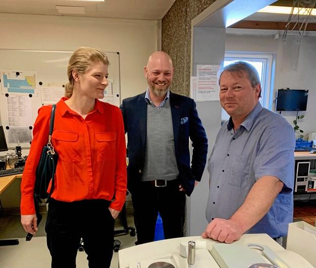 Folketingsmedlem Ane Halsboe-Jørgensen (S) på besøg hos Aage Vestergaard Larsen A/S i Mariager. Privatfoto