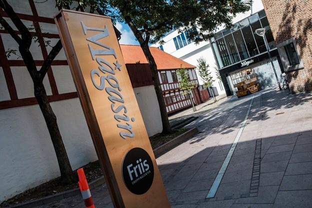 Her på torvet i Nørregade er der planer om at indrette en café. Foto: Lasse Sand