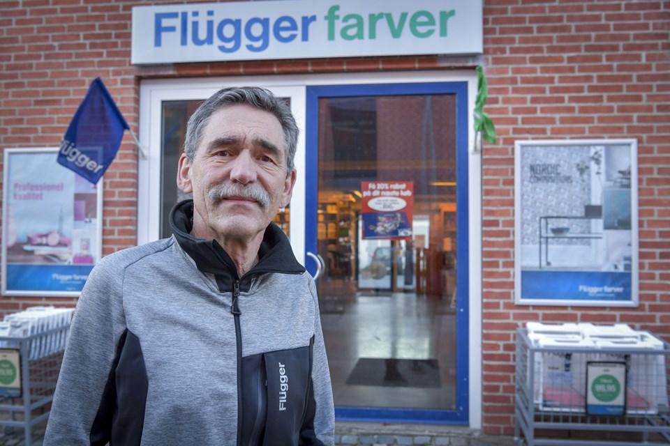 63-årige Keld Andersen er ved årsskiftet blevet førstemand hos Flügger Farver i Hobro.