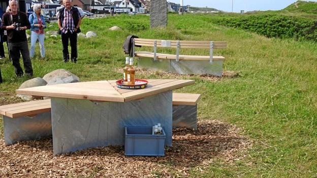 Her ses møblerne, og Bjesken som hed Bænken, og der var en bjesk til alle der ville have én. Foto: Jens Brændgaard