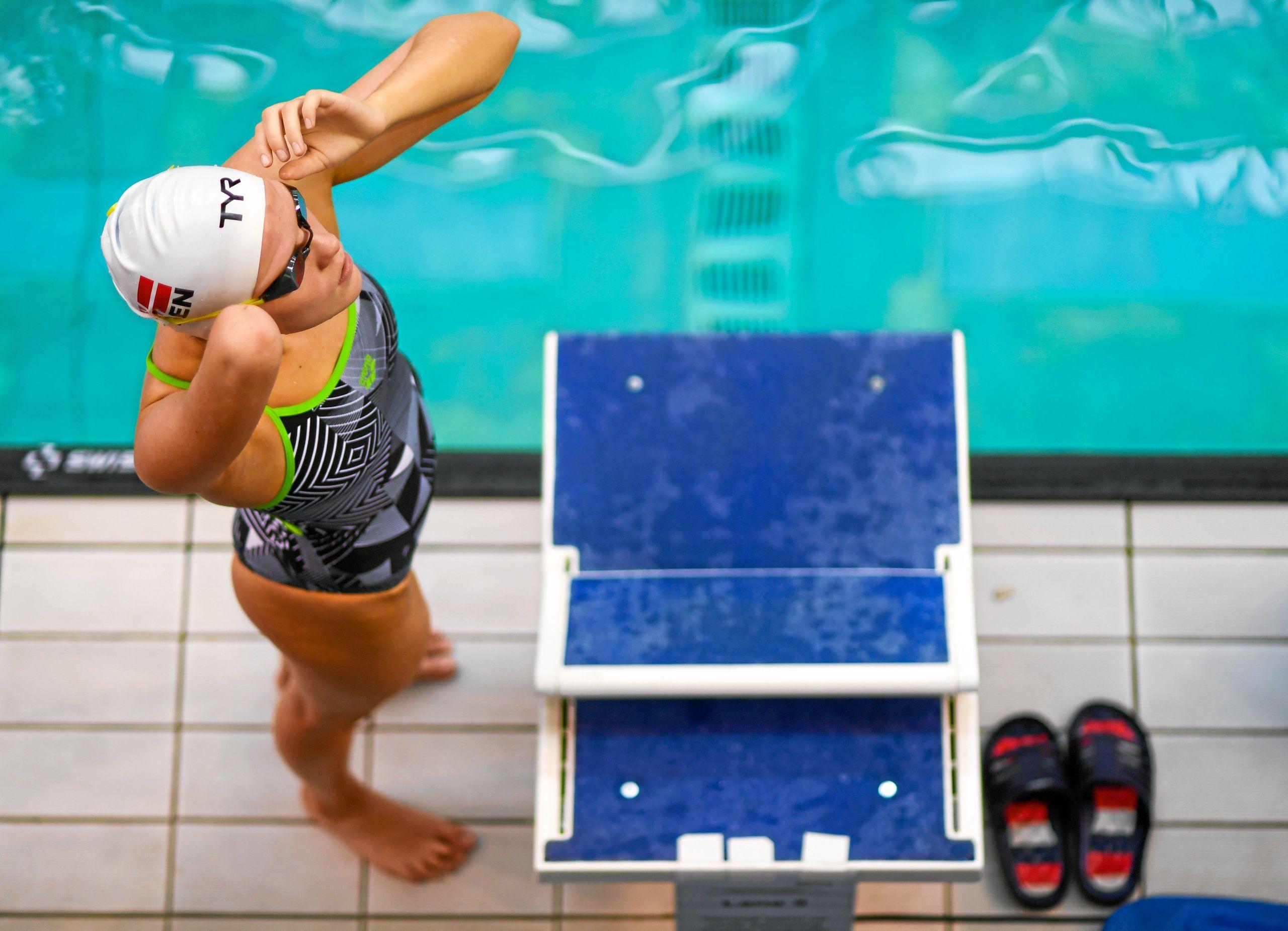 Det danske hold bestående af rutinerede Amalie Vinther, Laura Martens Christensen fra Svømmeklubben NORD og de to debutanter Louise Bast Aaby og Mie Trothe svømmede bronzemedaljen hjem i tiden 5.50,62 - kun overgået af Storbritannien, der tog guldet, og Spanien, der tog sølvmedaljerne. Privatfoto