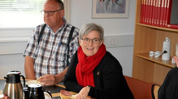 Dagens taler var Diane Aarestrup (A) som sidder i kommunalbestyrelsen i Jammerbugt kommune. Foto: Flemming Dahl Jensen Flemming Dahl Jensen