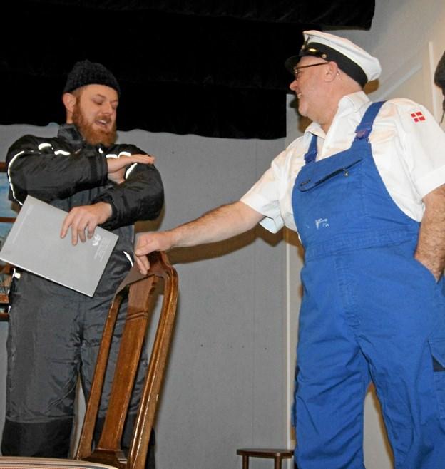 Der er masser af morsomme scener i forestillingen, der har premiere 22. marts. Foto: Jørgen Ingvardsen Jørgen Ingvardsen