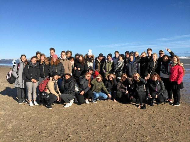 Under udvekslingsopholdet i Vesthimmerland fik østrigerne også tid til at opleve Skagen. Privatfoto